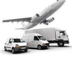 """כלי תחבורה שבאמצעותם ניתן לבצע העברת משלוח לחו""""ל"""
